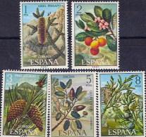 España 2085/2089 ** Flora. 1972 - 1931-Hoy: 2ª República - ... Juan Carlos I