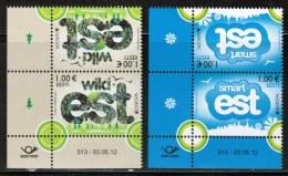 CEPT 2012 EE MI 733-34 Kd  ESTONIA - Europa-CEPT