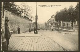 COURBEVOIE Rare La Rue De Bezons Et Montée De La Caserne (Potonniée) Hauts De Seine (92) - Courbevoie