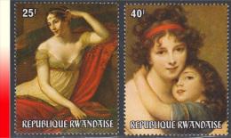 Rwanda 0670/71** Année De La Femme Tableaux  MNH - 1970-79: Neufs