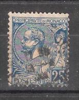 MONACO, 1901, Yvert N° 25, Prince Albert 1 Er,  25 C Bleu , Obl TB, Cote 7 Euros - Monaco