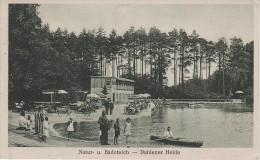 AK Badeteich Dahlener Heide Seebad Gasthof Dahlen Schmannewitz Reudnitz Lausa Belgern Waldbad Waldteich Dammühlenteich ? - Dahlen