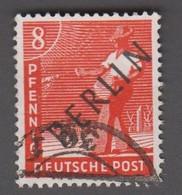 1948. BERLIN. Black Overprint. 8 Pf. SCHLEGEL BBP. (Michel: 3) - JF221422 - Oblitérés