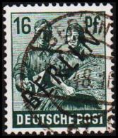 1948. BERLIN. Black Overprint. 16 Pf.  SCHLEGEL BBP. (Michel: 7) - JF221429 - Oblitérés