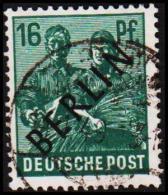 1948. BERLIN. Black Overprint. 16 Pf.  SCHLEGEL BBP. (Michel: 7) - JF221430 - Oblitérés