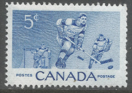 Canada. 1955 Ice-Hockey Commemoration. 5c MH. SG 485 - 1952-.... Reign Of Elizabeth II