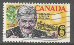 Canada. 1969 Birth Centenary Of Stephen Butler Leacock. 6c Used. SG 646 - 1952-.... Reign Of Elizabeth II