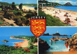 JERSEY - UNITED KINGDOM - 4 VIEWS POSTCARD. - Jersey