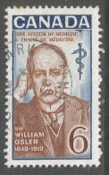 Canada. 1969 50th Death Anniv Of Sir William Osler. 6c Used. SG 637 - 1952-.... Reign Of Elizabeth II