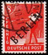 1948. BERLIN. Black Overprint. 8 Pf. SCHLEGEL BBP. (Michel: 3) - JF221420 - Oblitérés