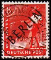 1948. BERLIN. Black Overprint. 8 Pf. SCHLEGEL BBP. (Michel: 3) - JF221419 - Oblitérés