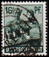 1948. BERLIN. Black Overprint. 16 Pf.  SCHLEGEL BBP. (Michel: 7) - JF221428 - Oblitérés