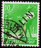 1948. BERLIN. Black Overprint. 10 Pf. (Michel: 4) - JF221435 - Oblitérés