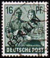 1948. BERLIN. Black Overprint. 16 Pf.  SCHLEGEL BBP. (Michel: 7) - JF221427 - Oblitérés