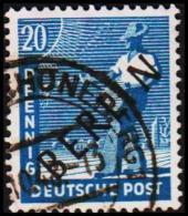 1948. BERLIN. Black Overprint. 20 Pf. (Michel: 8) - JF221423 - Oblitérés