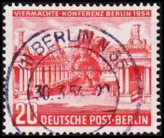 1954. Viermächte-Konferenz. 20 Pf. LUX BERLIN 30.3.54. (Michel: 116) - JF221417 - Oblitérés