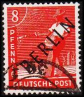 1948. BERLIN. Black Overprint. 8 Pf. SCHLEGEL BBP. (Michel: 3) - JF221421 - Oblitérés
