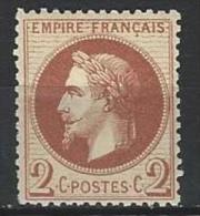 "YT 26B "" Napoléon III Lauré 2c. Brun "" 1862 Neuf* - 1863-1870 Napoleon III With Laurels"