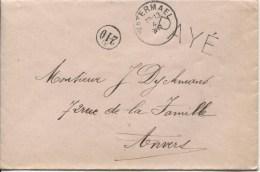 Lettre C.Fortune Watermael Année Grattée + Griffe Payé V.Anvers PR2023 - Postmark Collection