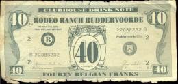 Pub Reclame - Biljet 40 Frank - Rodeo Ranch Ruddervoorde - Advertising