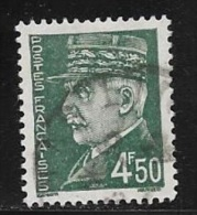 N° 521 B  FRANCE  -  PETAIN  -  OBLITERE  -  1941 / 1942 - Usados