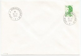 R778 - Ambulant ALSACE - LYON A STRASBOURG 1° F - 1985 - - Postmark Collection (Covers)