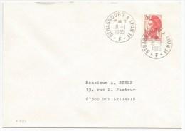 R781 - Ambulant ALSACE - STRASBOURG A LYON 1° F - 1985 - - Marcophilie (Lettres)