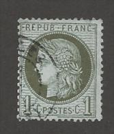 FRANCE - N°YT 50 OBLITERATION - FILET SUD BRISE - FILET EST COTE NORD A ETUDIER  - 1872 - COTE YT: 20.00€ - 1871-1875 Cérès