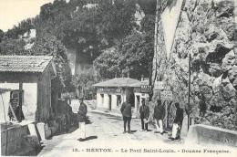 Menton - Le Pont Saint-Louis - Douane Française - Edition Rostan & Reneaud - Carte Non Circulée - Zoll