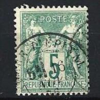 "YT 64 Type I "" Sage 5c. Vert "" 1876-78 Cachet Date 16 Nov.76 - 1876-1878 Sage (Type I)"