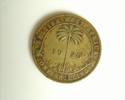 British West Africa Silver One Shilling Dated 1920 - Colonie Britannique