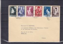 Madonnes - Belgique - Lettre De 1961 ° - Oblitération Bruxelles - Peinture - Rubens - Van Der Weyden - Memling - - Belgique