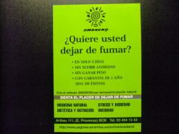 CARTA POSTAL PUBLICITARIA - PARA DEJAR DE FUMAR - Otros