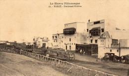 Cpa 1916, RABAT, Boulevard El Alou,  Balcons Fermés, Charettes, Automobile, (38.61) - Rabat