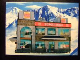 CARTA POSTAL PUBLICITARIA - BURGER KING -  ANDORRA - Restaurantes