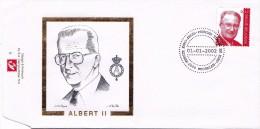 FDC-01- - Belgique Enveloppe FDC  - COB 3050 - 2800 Mechelen - Roi Albert - Koning Albert II 2002 -  Du 1-1-2002 - 1,5€ - 2001-10
