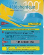 FRENCH ANTILLES - La Poste/Kertel Recharge Card 100 F/15.24 Euro, Used - Antilles (French)