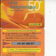 FRENCH ANTILLES - La Poste/Kertel Recharge Card 50 F/7.62 Euro, Used - Antilles (French)