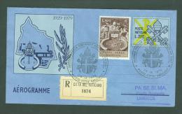 VATICAN VATICANO 1979 AEROGRAMME REGISTERED POPE JOHN PAUL II Travel To LIMERICK IRELAND (WITH NEWSPAPER OF EVENT) (4304 - Vatican