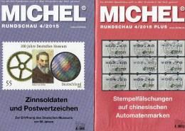 Briefmarken Rundschau MICHEL 4/2015 Sowie 4/2015-plus Neu 11€ New Stamps Of The World Catalogue And Magacine Of Germany - Matériel