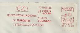 Fonte, Acier, Fer, Fonderie, Rinxent - EMA Secap - Enveloppe Entière (P449) - Minerals