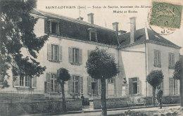 39 // SAINT LOTHAIN   Mairie Et écoles,   Statue De Sauriat, Inventeur Des Allumettes - Other Municipalities