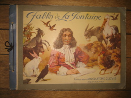 RARE ALBUM-CHROMOS Chocolaterie CLOVIS - FABLES DE LA FONTAINE - Albums & Catalogues