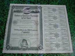 Action - Obligation...-  Ateliers Et Chantiers Maritimes De Sud Ouest ... 1916 ...(Complète... Bon état ...) - Transports
