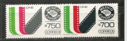 MEXIQUE.  Le Mexique Exporte Des FILMS.   2 T-p Neufs **  Faciales Différentes.