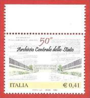 ITALIA REPUBBLICA MNH - 2003 - 50º Anniversario Dell'archivio Centrale Dello Stato - € 0,41 - S. 2689 - 2001-10:  Nuovi