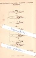 Original Patent - E. Hammesfahr In Foche In Graefrath Bei Solingen , 1880 , Metallschreibfeder !!! - Federn