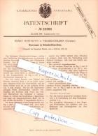 Original Patent - E. Hoffmann In Niederschlema , Sachsen , 1882 , Holzschleifmaschinen , Bad Schlema , Tischlerei !!! - Bad Schlema