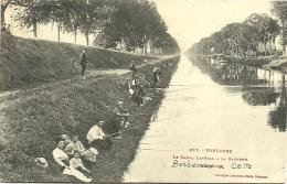 Nº237 TOULOUSE - LE CANAL LATÉRAL A LA GARONNE - PÊCHEURS (2 SCANS) - Toulouse