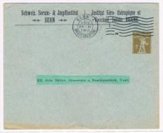 L6. Entier Privé. 2c T3. Institut Séro-thérapique Et Vaccinal Bern. 24.11.1911. Medecine/santée/vaccins - Stamped Stationery